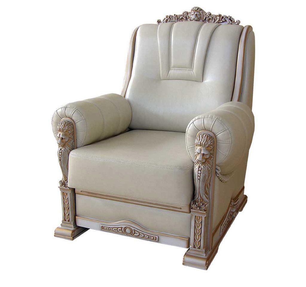 кожаное кресло леон