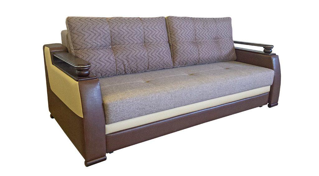 диван прямой серого цвета