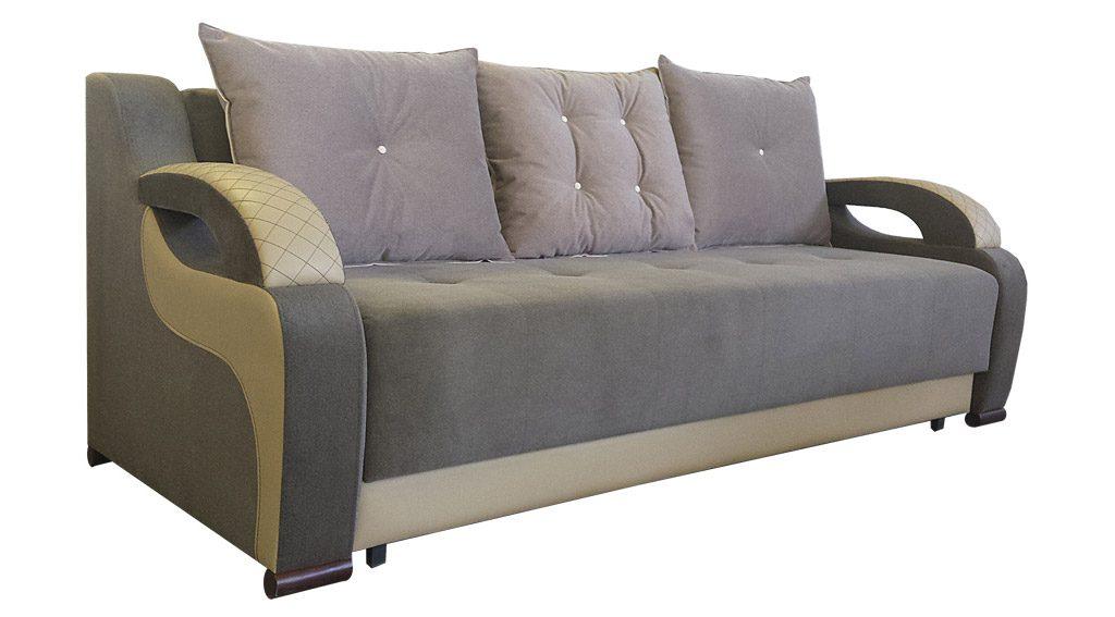 диван статус серый с подушками