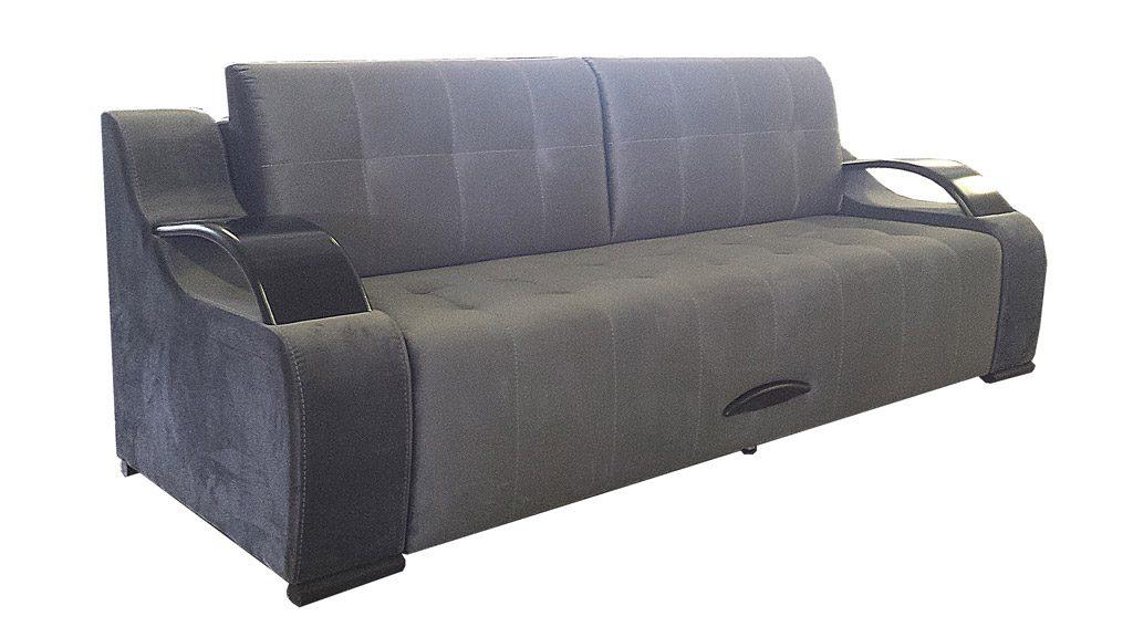 серо-голубой диван фото