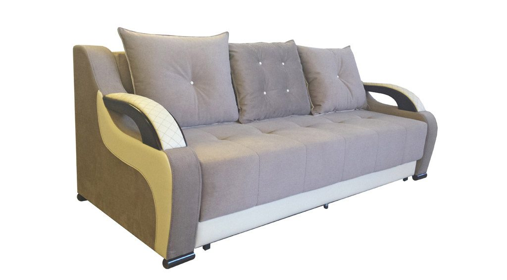 серый диван с подушками фото